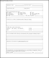 Free Printable Employee Write Up Form Sample Templates