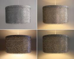fullsize of beauteous chandelier drum lamp shades your residence soda can tab drumshade large soda can