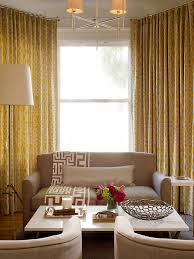 yellow curtains retro taupe yellow decor contemporary living