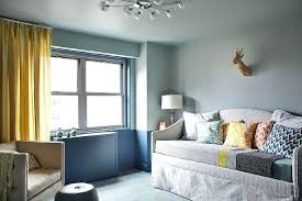 Two Tone Grey Walls Boy Nursery With Two Tone Walls And Skirted Daybed Grey  Tone Bedroom .
