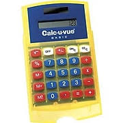 four function calculator basic student calc u vue® calculator handheld 5 h x