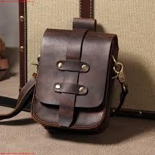 various styles summer mens leather waist bag leather mens shoulder messenger bag small bag crazy horse leather motorcycle bag backpack tide bag 568917433688