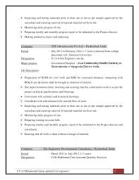 CV of Mohammed Imran pasha(Civil engineer) ...
