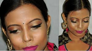 diwali indian festive makeup tutorial dark um dusky skin tone minniedas you