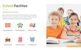 Kids School Website Template 21 Best Kids And Kindergarten Website Templates 2019