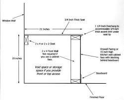 bench seat height. Build A Window Seat With Storage Intended For Depth Design 3 Bench Height E