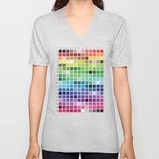 T Shirt Color Chart Color Chart Unisex V Neck By Patternrecognitionbyannembray