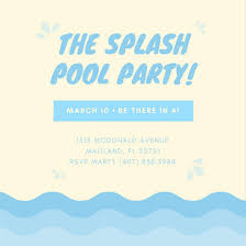 Customize 3,998+ Pool Party Invitation Templates Online - Canva