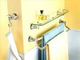 glass bathroom shelf with towel bar glass bathroom shelf with towel bar double towel bar chrome