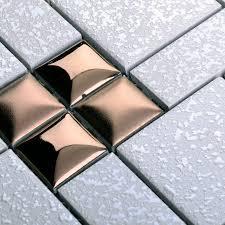 porcelain mosaic floor tile grey square iridescent tile kitchen backsplash bathroom mirror wall art