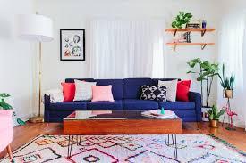 perfect design blue sofa living room ideas white walls