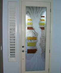 etched glass door panels ideas for singgle door