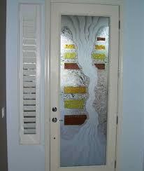 etched glass door panels ideas for singgle door