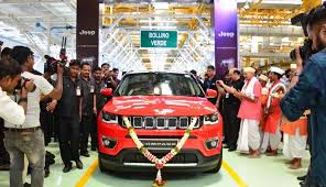 new car launches in puneMaha CM Fadnavis rolls out first MadeinIndia Jeep Compass from