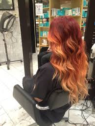 The 27 Hottest Red Ombre Hairstyles Cheveux Roux Et Cheveux Roux