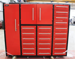 metal workbench with drawers. heavy duty steel work bench, model t20d, 20 drawers, 2880mm 5x small 10x medium large gauge slides with metal workbench drawers b