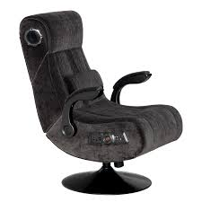 x rocker pedestal game chair 2 1 with wireless bluetooth audio charcoal hayneedle