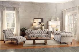 Tufted Living Room Furniture 3pc Traditional Brown Almond Fabric Sofa Living Room Set Tuft Roll Arm