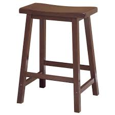 Cool Counter Stools Amazoncom Winsome Saddle Seat 24 Inch Counter Stool Walnut