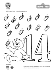 Educating numbers is important for learning mathematics. The Number 14 Coloring Page Kids Coloring Pbs Kids For Parents