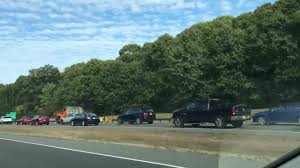 overturned vehicle on garden state parkway