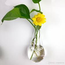 clear climbing wall glass flower vase water droplet shape air plants terrarium flower hanging vases for ornaments home decor white flower vases