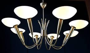 highend stilnovo spider elegant 8 lights italian chandelier brass art glass rare ceiling lamp pendant mid century milano vintage 1950s 50s