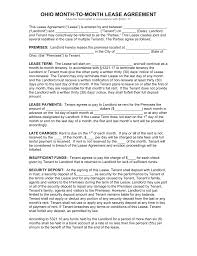 doc 9561208 lease agreement word template residential ohio month to month lease agreement template pdf lease agreement word template rental