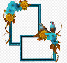 digital photo frame picture frame template clip art blue bird frame