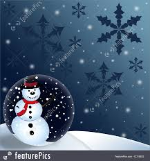 Holidays Snowman Holidays Snowman Globe Christmas Background Stock Illustration