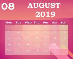 Best 2019 Calendar Design Download Best August 2019 Calendar Design In 2019 Calendar