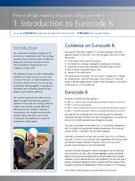 Small Picture Introduction to Eurocode 6 Masonry Masonry Mortar Masonry