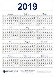 Week Number Calendar Free Download 2019 Calendar With Week Numbers Calendar