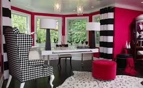 White home office design big white Layout Alluring Pink Home Office Design With White Accent And Cozy Black And White Giant Chair With Homesfeed Designing Your Home Office With Professional White Accent Homesfeed