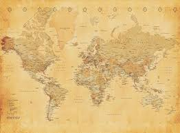 1wall vintage old map wall mural wood beige 3 15 x 2 32 m world wallpaper
