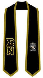 sigma nu greek 2 tone lettered graduation sash stole