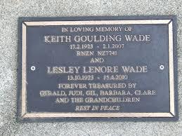 Keith Goulding Wade - Online Cenotaph - Auckland War Memorial Museum