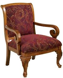 hopewell chair with burgundy antique tapestry fabric 18 seat height