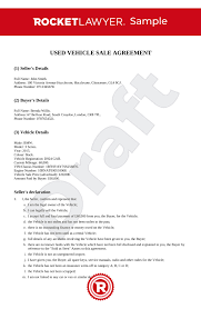 As Is Document For Car Sale Car Sale Agreement Uk Template Make Yours For Free