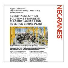 electric chain hoists konecranes supplied and installed a comprehensive range of hoist and crane lifting system solutions in jaguar land rover s new flagship engine