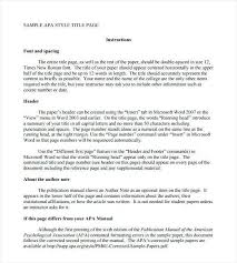 Apa Essay Examples Sample Apa Research Proposal Beautiful Format For Essay Template
