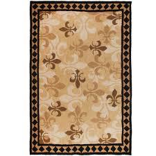 homefires fleur de lis outdoor rug 5x7
