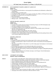 Sample Resume With Sabbatical Trading Assistant Resume Samples Velvet Jobs 16