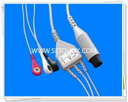 <b>Generic AAMI 6 Pin One Piece</b> ECG Cable