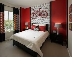 Red & Black Bedroom
