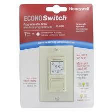 ECONO Switch Programmable Light Switch Timer Almond RPLS541A