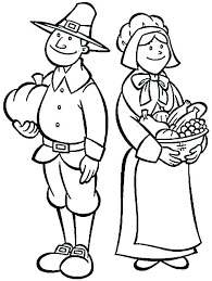 Draw A Pilgrim How To Draw Cartoon Pilgrims Boy Girl Draw Pilgrim