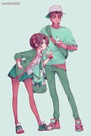 Heiji Hattori and Kazuha Toyama...art by @/candiirabbitart on Tumbrl.