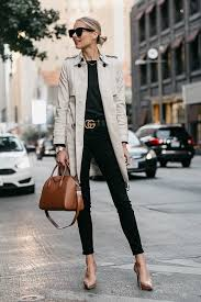 a classic trench coat outfit
