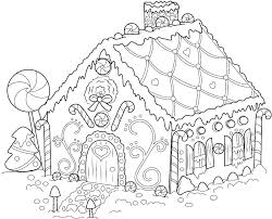 Gingerbread House Coloring Pictures Gingerbread House Coloring Page